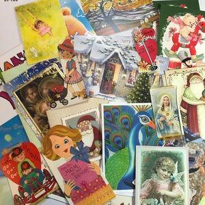 30 + Vintage Greeting Cards Ephemera Lot